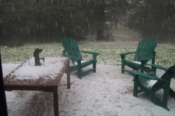 Backyard Hailstorm