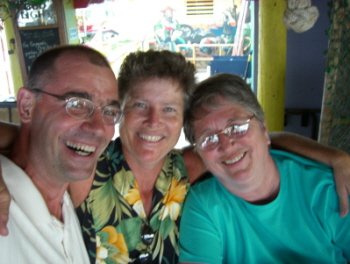 Chip, Clada and Nona at Lobster Reef