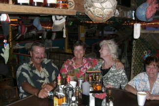 Keith, Clada, Peggy and Cris at the Lobster Reef