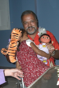 Robert with Rorie and Dolls