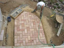 pavers sprayed
